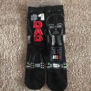 Disney#1 dad Darth Vader socks Star Wars